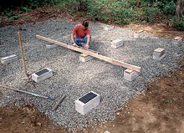 Build A Platform Bed With Cinder Blocks by A Firm Foundation For A Backyard Shed Fine Homebuilding
