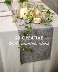 table numbers wedding creative table number ideas the mantilla company