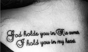 miscarriage wording tattoo u2013 god holds you in his arms i hold you
