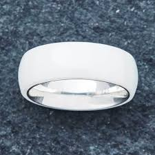 ceramic rings white images Embr ceramic wedding rings bands by 40 off today jpg