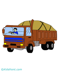 overloaded truck coloring pages kids color print