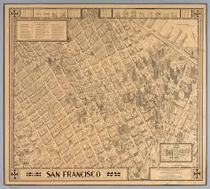 Map Of San Francisco by A Bird U0027s Eye Panoramic Map Of San Francisco David Rumsey