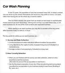 car wash business plan template 11 free documents in pdf