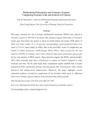 Universities As Multinational Enterprises The Multinational Session 1 Ramstetter Nguyen Multinational Enterprises And