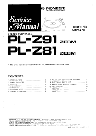 pioneer pl z94 service manual immediate download