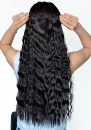 4 Piece Clip In Hair Extensions by Amazon Com Jet Black Long Corn Wave Curly Wavy One Piece Clip In