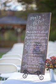 wedding program sign lettered wedding signs before noon paperie