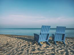 Chairs On A Beach Blue Wooden Adirondack Chair Free Image Peakpx