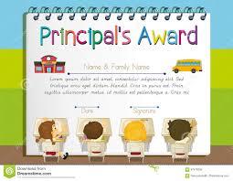 Prize Certificate Template Certificate Template For Principal S Award Stock Vector Image