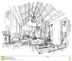 Interior Design Bedroom Drawings Bedroom Drawing With Color Pencil Stock Illustration Image 56799171