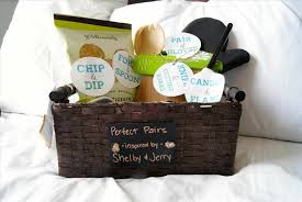 bridal shower gift basket ideas filled with towels detergent bridal wedding shower gift basket