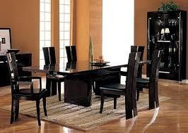 Black Wood Dining Room Set Fascinating Ideas Black Piece Dining - Black wood dining room set