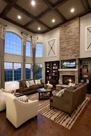 High Ceilings Living Room Ideas Contemporary Living Room With Box Ceiling Hardwood Floors High