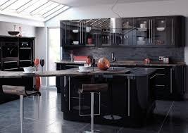 high gloss black kitchen cabinets black gloss kitchen ideas 100 images kitchens designs 23