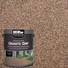 behr premium 1 gal gg 11 sahara canyon decorative concrete floor