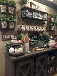 coffee kitchen cabinet ideas farmhouse style coffee serving station ideas for the kitchen