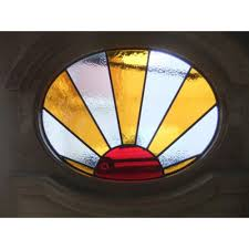 stained glass door windows 1930 u0027s edwardian original stained glass exterior door sunburst