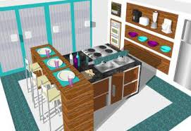 sketchup components 3d warehouse kitchen blue and purple kitchen