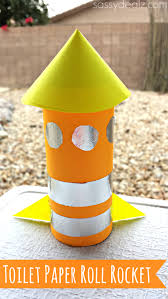 rocket toilet paper roll craft for kids crafty morning