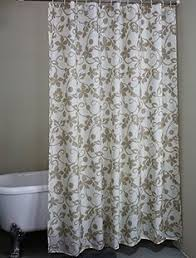 Amazon Extra Long Shower Curtain Elegant Gray Ivory Floral Luxury Shower Curtains Ivory And Luxury