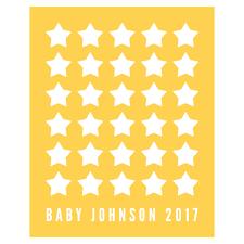 stars personalised baby shower guest book print by bird u0026 key