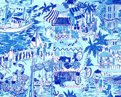 Lilly Pulitzer by Lilly Pulitzer Fresh Catch Toile 2010 All About Blue And