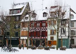 Winter Houses Free Images Snow Winter Street Town Downtown France Suburb