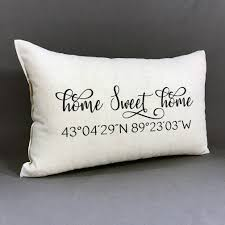 Personalized Home Sweet Home And Coordinate Pillow Custom