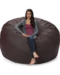 big deal on comfy sacks 6 ft memory foam bean bag chair brown