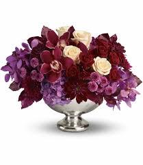 Burgundy Flowers Teleflora U0027s Lush And Lovely In Fullerton Ca Flower Allie