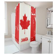 vintage canada flag shower curtains hooks bathroom curtain