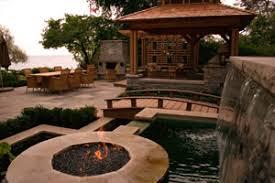 Nice Backyard Outdoor Fire Pit Ideas Using Fire Glass Modern Outdooor Fireplace