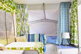 Pop Up Camper Curtains Coleman Simply Gourmet Sifting Through Life Popup Tent Trailer Makeover