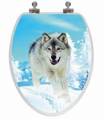 themed toilet seats snow wolf 3d image toilet seat elongated baby n toddler