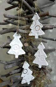 white gold ceramic tree ornaments lace pottery gold
