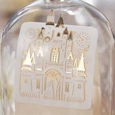 laser cut and foil disney wedding favor box ewfb127 as
