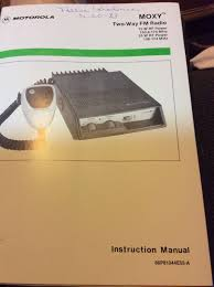 vintage motorola moxy two way radio manual u2022 19 99 picclick