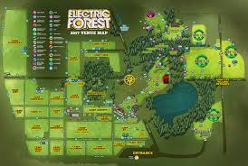 Camping World Locations Map by Venue U0026 Lodging Maps Electric Forest 2017