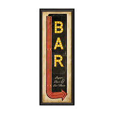 home decorating signs bar sign with arrow wine enthusiast