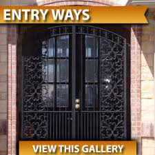 custom iron works gates fence stairs entry doors window