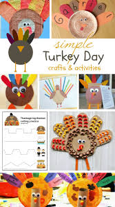 simple turkey day crafts activities makeovers and motherhood