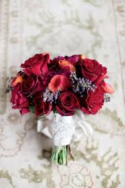 Red Wedding Bouquets Elegant Ranch Wedding In The California Valley