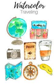 travel clipart images Travel clip art watercolor clip art traveling clip art hand jpg