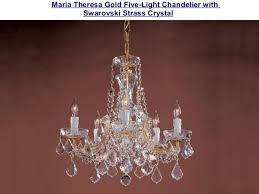 Maria Theresa 6 Light Crystal Chandelier Swarovski Strass Crystal Chandeliers