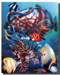 Tropical Fish Home Decor Amazon Com Tropical Fish Underwater Ocean Animal Wall Decor Art