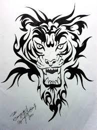 tiger tattoo design by xagros on deviantart