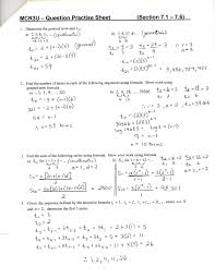 Linear Sequences Worksheet Unit 7 U0026 8 Sequences Series And Financial Applications D