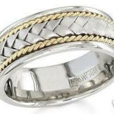 braided wedding bands 14k white and yellow gold mens 8 5mm braided wedding band knrinc