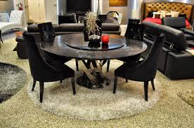Black Modern Dining Room Sets 36 Round Industrial Dining Table