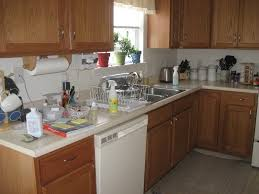 Kitchen With White Appliances by White Countertop On Kitchen Cabinet With White Gas Stove With